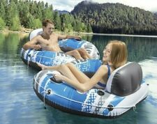 Intex River Run Connect Lounge Inflatable Floating Water Tube 56851S (2 Pack)