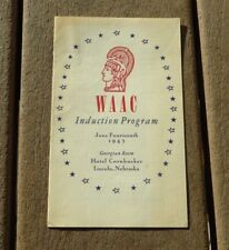 WW2 US Army Military Facts about WAAC Womens Auxiliary Corps Induction Program