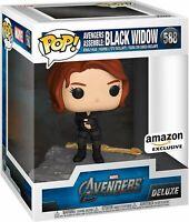 Black Widow Assemble Marvel Avengers Deluxe Funko Pop Vinyl New in Box - In Hand