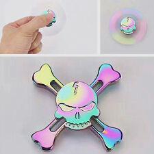 Cool Skull Hand Fidget Spinner Toy EDC Toy Rainbow Best Spinner Gift Kids Adult