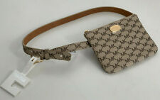 NEW! MICHAEL KORS MK NATURAL BROWN HIP PACK FANNY PACK WAIST BELT BAG MEDIUM $78