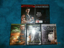 5 Arnie Schwarzenegger films (DVDs) Commando Total Recall Predator Eraser Conan