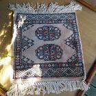 "HAND MADE - Miniature Turkish Wool Rug Wall Hanging  11"" x 12"""