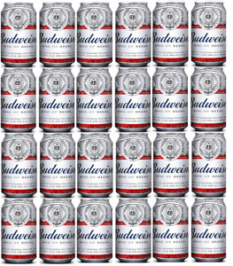 Budweiser Cans ALC 5% Vol 6x 4pk=24 In Total 33cl Cans Best Before END 02.2021