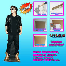 JUSTIN BIEBER HOODIE AND GOLD SHOES  LIFESIZE CARDBOARD CUTOUT