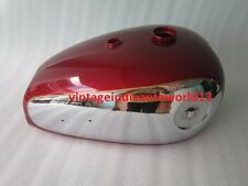 NEW BSA A7 A10 CHERRY PAINTED CHROME GAS FUEL PETROL TANK
