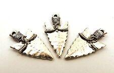 Arrowhead Charms // Silver Tone Pewter // Set of Three (3) // 5038/3
