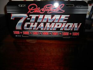 "DALE SR. # 3 7-TIME CHAMPION  WINCRAFT ""POLY"" LICENSE PLATE BRAND NEW RARE NICE"