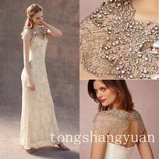 New Luxury Wedding Jacket Shawl Rhinestone Beading Cap Sleeve Bridal Bolero Wrap
