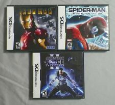 3 Nintendo DS Games Iron Man Spider-man Edge of Time Star Wars Force Unleashed