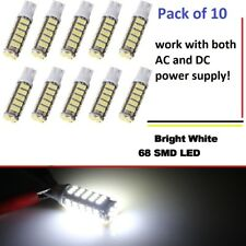 10 pack 12V AC/DC 68 LED per bulb for Malibu landscape lighting pure white-T10
