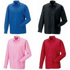 Camicie classiche da uomo colletti regolare-business manica lunghi cotone