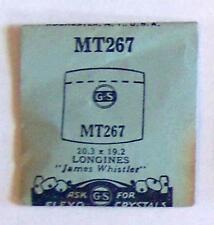 Vintage NOS G-S Crystal MT267 for LONGINES James Whistler* 20.3 x 19.2 mm