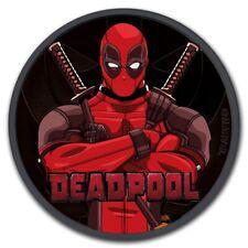 2018 1 oz Tuvalu Silver Marvel Deadpool Colorized Black Ruthenium Coin
