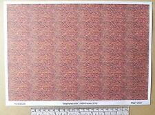 "OO/HO gauge (1:76 scale) ""weathered brick""  paper - A4 sheet"