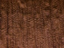 Embroidered Creased Satin Dress Fabric (EM-17148-Brown289-M)
