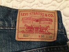 Mens Levis Jeans 511  Sz 34 X 30 Dark Wash