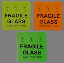 Fragile Glass Handle With Care 50x50mm Stickers Qty 30