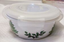 Spode Christmas Tree 5 in serving cereal fruit microwave bowl with snap lid