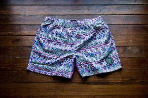 """5.5"""" Aztec Swim Shorts - Quick Dry -  No Interior Liner - Size: Medium"""