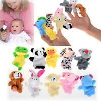 10X FARM ZOO ANIMAL FINGER PUPPETS TOYS BOYS GIRLS BABYS PARTY BAG FILLER UK