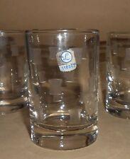 VINTAGE LIBBEY ROCK SHARPE 4 JUICE GLASSES IN WINDSOR PATTERN CA 1955 3 1/2 INCH