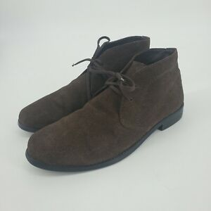 Banana Republic Suede Desert Chukka Boots Dark Chocolate Brown Size 10