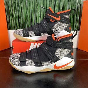 RARE Nike LeBron Soldier XI SFG Safari Orange Mens Shoes 897646-006 Size 13