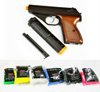 HFC James Bond Airsoft Gas Pistol Non Blowback Semi-Auto w/ EXTRA CLIP & 1000 bb