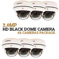 CASPERi 2.0MP HD High Resolution CCTV 6x Dome Cameras Package Wide Angle 30M IR