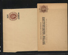British  Bechuanaland wrapper and postal card unused                MS1015