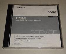 Werkstatthandbuch auf CD Nissan 350 Z Typ Z33 Stand 11/2004