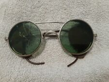 New listing Antique American Optical Goggles Safety Glasses Ao-D Leather Round M/C Steampunk