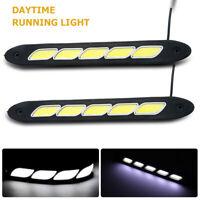 2 x lumière du jour LED super brillante Feux de circulation diurnes DRL blanc