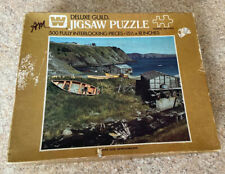 "Vintage Whitman Deluxe Guild Jigsaw Puzzle - 500 Pcs ""Outer Cove, Newfoundland"""
