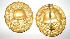 WK I- Verwundeten Abzeichen an Nadel Farbe Gold
