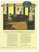 1920s BIG Vintage Chase Velmo Furniture Upholstery Period Interior Art Print Ad
