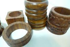 "Vintage Wood Egg Holder Rings Napkin Rings Huge Lot 1.25 ""1.5"""