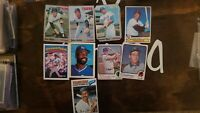 1960's And 70's/80s Vintage Baseball Card Lot Low Grades