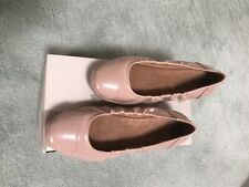 FF2TM BY FitFlop™ F-POP NUDE PATENT LEATHER BALLERINA PUMPS UK 5 EUR 38 RRP £85