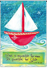 """Possible for God Garden Flag Luke 18:27 Bible Verse Religious 12.5"""" x 18"""""""