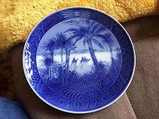 royal Copenhagen 1970 Blue And White Christmas Plate- In The Desert