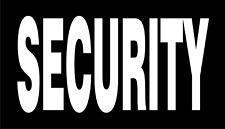 """SECURITY WHITE ON BLACK PCX PATCH PAIR 3.5"""" x 2"""" WITH VELCRO® BRAND FASTENER"""