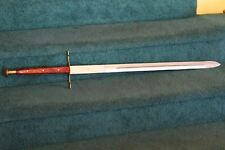 """Knight Sword 43"""" Overall ~31.5"""" Blade~ Brass Steal Wood Handle Round Pommel"""