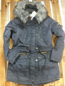 Khujo Parka Jacke Mantel warm Lorene Damen Gr. M Winterjacke warm blau (534)