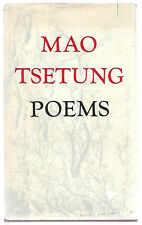Mao Tsetung ~ POEMS - 1976 1st Edition H/C