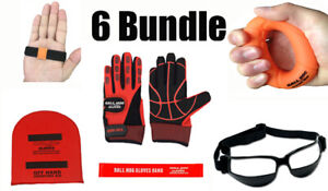 6 BUNDLE (VALUE over $120): Ball Hog Gloves Weighted, OFF PALM Shooting Aid, Bal