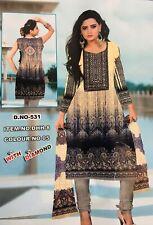 Pakistani Printed Unstitched Shalwar Kameez Indian Bollywood 3 Pcs Designer Suit