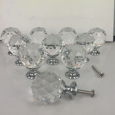 Zinc alloy Spherical crystal 30mm sparkle cabinet drawer door pulls knobs handle