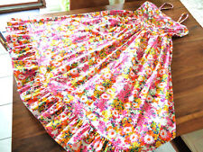 Sommer-Kleid 70er True Vintage Boho Hippie Festival Schlagerparade Blumen 36/38M